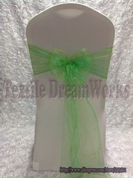 Wholesale New products in August Apple Green Organza Sash For Wedding Event amp Party Decoration