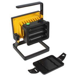 Wholesale 2PCS Square W LM XML L2 LED Floodlight Portable Rechargeable Emergency Work Light AC Charger Car Charger LEG_842