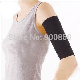 Wholesale-1Pair Calories Fat Burning Arm Elastic Sleeve Armband Magic Women Slimming Arm Massage Shaper Arm Warmers