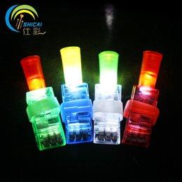 2017 las luces de carga Directo de fábrica que emite luz de dibujos animados juguetes dedo dedos lámpara regalo mercado de la noche de los niños venta de cuatro cargada económico las luces de carga