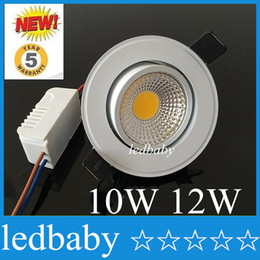 Nature White 4000K Led COB Downlight Dimmable 10W 12W Warm Cool White Led Recessed Ceiling Light AC 11102-40V + Warranty 3 Years + Drivers