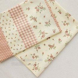 Wholesale Soft bz035 powder color polka dot patchwork x50 cloth slanting stripe cotton cherry