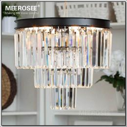 Casa comedor en Línea-Cristal de la vendimia francesa de la lámpara del accesorio ligero Negro Cottage blanco americano Lámpara de suspensión de luz para colgar Comedor