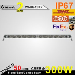 Super bright 300W LED Light Bar 4D 50inch Combo Beam Driving Light Bar Offroad Fog Lamp ATV Offroad Car Boat Driving Lamp IP67