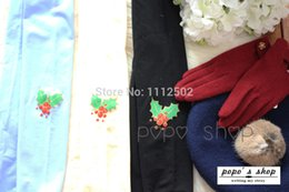 Wholesale 2014 sale hot women female pairs Princess Christmas special section of three dimensional glove section Berry