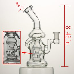 Wholesale 8 quot inches glass bong High quality complex perc recycler water pipe mm joint Female have high quality bowl