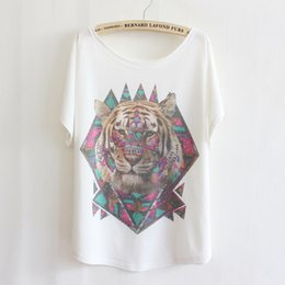 Crème glacée animale à vendre-Alisister nouvelles femmes de bande dessinée de mode t-shirt imprimé animaux / peinture / crème glacée 3d tshirt Graphic T-shirt casual tops fille tshirt