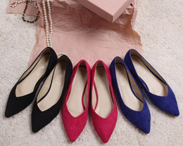 Wholesale 2016 New Womens Ladies Girls Flats Dolly Pointed Toe Ballerina Ballet Pumps Flat Shoes