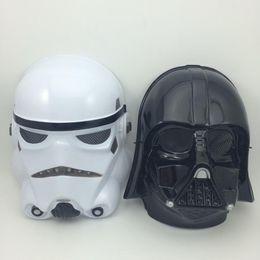 Wholesale on sale Star Wars Masks Stormtrooper Helmet fans Film mask Darth vader mask black warrior white soldiers Full Face Party Masks
