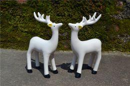 Wholesale New design creative garden style Chinese minimalist porcelain deer figurine home shop wedding decoration set shipping free