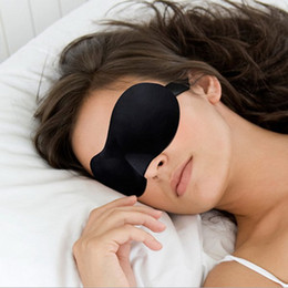 Wholesale 3D Sleep Eye Mask Portable Soft Travel Black Sleeping Mask Cover Eye Patch Rest Aid Comfort Eyeshade Blindfolds