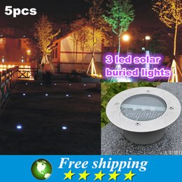 Wholesale Solar buried lights with Led warm white white IP65 aluminum gold LED lawn lamp square yard road buried lights x