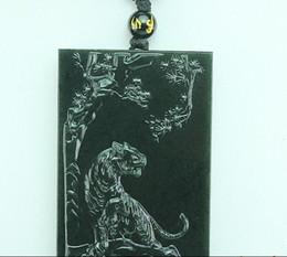 Xinjiang and Tian Yuqing natural jade black jade pendant tiger mountain tiger zodiac sign pendants