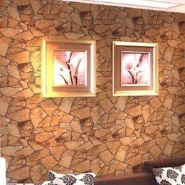 Classique Vintage Natural Rockwall Wallpaper Stacked Pierre Rocher Slate Effet fond d'écran PVC Vinyle Fond d'écran étanche à partir de fond d'écran d'ardoise fournisseurs