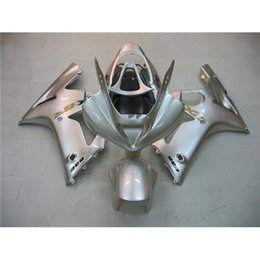 Wholesale ZX636 Kawasaki Fairing Kit ZX6R Year Injection Molding Cowling ABS Glossy Silver Motorbike Parts Body Work Best Match Gears