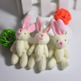 Bulk stuffed 6CM Plush small Bunny Cute Joint Rabbit Craft Stuffed Dolls Plush Pendant jewellery Bouquet Phone Bag Soft toys