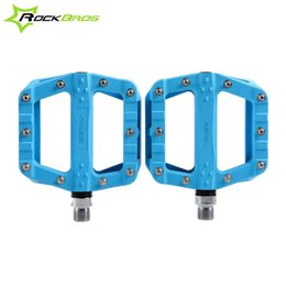 ROCKBROS Hot New MTB Mountain Bike Bicycle Cycling Ultralight Pedals BMX Pedals Platform Bicycle Pedals Accessories 7Colors