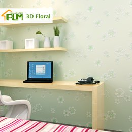 Wholesale Modern Wallpaper D Floral Pastoral Style Non woven Wall Paper Roll Bedroom Wallpapers Flower D Wallpaper for Walls Home Decal