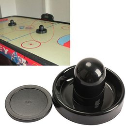 Wholesale 1 mm Air Hockey Table Felt Pusher Mallet Goalies With Pc mm Puck Black