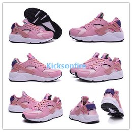 Wholesale Air Huarache Run Print Aloha Pack Pink Glaze Varsity Purple Black Classic Sneakers Women s Trainers Sports Running Shoes Womens Shoe