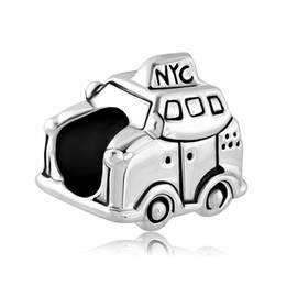 Fashion women jewelry metal loose charms New York city taxi car European spacer bead charm fits Pandora bracelet