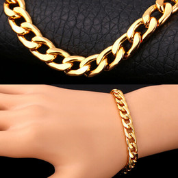 High Quality 18K Gold Plated Fashion Men Jewelry Bracelet Hot Selling Best Gift Gold Plated Chain Bracelet