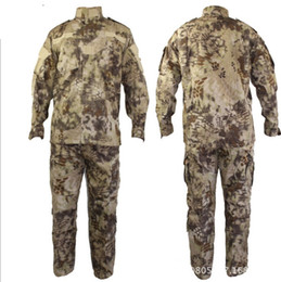 Wholesale Tactical Rattlesnake Mandrake BDU Military Uniform Combat Suit Set Shirt Pants Ripstop for airsoft Camouflage with Kryptek style