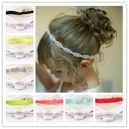 High Quality Baby Headbands With Rhinestone Applique Elastic Luxury Crystal Hairbands Bridal Hair Accessories For Girl Wedding Hair Corsage