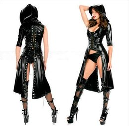Sexy Faux Leather Costume Sex Slave Bondage Restraint Clothes Fetish Harness Roleplay Dress For Women Adult Games Apparel Erotic Flirt Wear