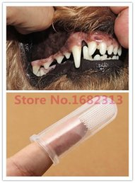 Wholesale 2015 Super Soft Pet Finger Toothbrush Teddy Dog Brush Bad Breath Tartar Teeth Care Dog Cat Cleaning Supplies