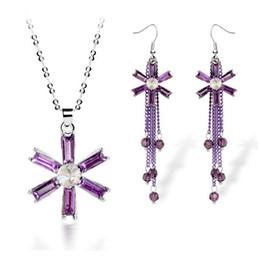 New Model Flower Necklace Earrings Sets Fashion Tassels Earrings Jewelry Boutique Jewelry Set For Wedding 4112