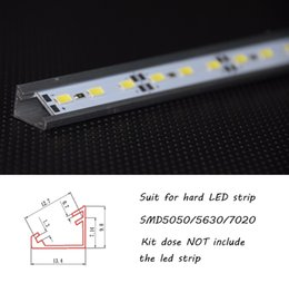 Wholesale 10pcs meter V shape corner led aluminium housing aluminium profile for LED strip aluminum extrusion aluminum led channel