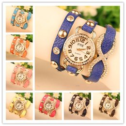 Hot Wrap Fashion Women Lady Wrist Watches Diamonds Case Charming Bracelets Watches Mix Colors Drop Free Shipping
