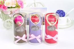 Wholesale 2015 New Barbie Bobbi cake towel cm cotton towel wedding Party Decorations supplies baby shower favors gifts