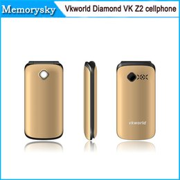 Wholesale Vkworld Diamond VK Z2 Senior Elder Flip Mobile Phones inch with Qwerty Keyboard g GSM MP mAh FM cellphone