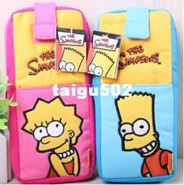 Wholesale Big capacity The Simpson Bart Cartoon Pencil case bag patchwork color school bag pattern Cute storage box