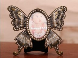 "Classic Bronze Butterfly Photo   Picture Frame Fashion Jeweled Small Angel Babies Photos Rahmen 3 "" x 3"" FREE SHIPPING"