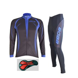 Wholesale-Hot ! Long Sleeve Racing Jerseys Sets   Breathable MTB Bicycle Jerseys Cycling Clothing   3D Gel Bike Shorts