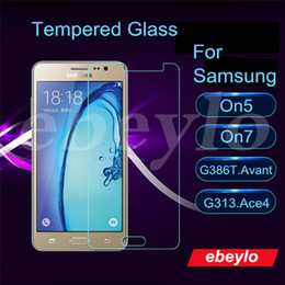 Wholesale Samsung On5 On7 G386T Avant G313 Ace4 Tempered Glass Screen Protector w Retail Package MM H D