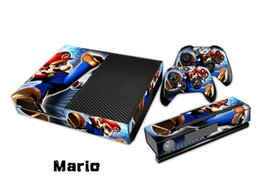 Wholesale Mario Decal Skin Stickers For xbox one Console Controllers Kinect Skin