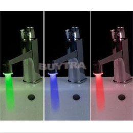 Wholesale 2014 New Color Water Faucet Tap with LED Light High Quality Home Using Basin Faucets