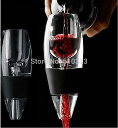 Wholesale New Beer Tower Equipment Magic Wine Decanter red Aerator Filter wine Essential Gift With Bag Hopper Filter
