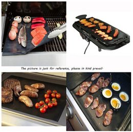 Wholesale BBQ Grill Liner Mat Resuable Barbecue Sheet Pad Heat Resistance Grill Mat Sheet Microwave Oven Use Cooking Sheet BBQ Grill Mat LJJE136 set