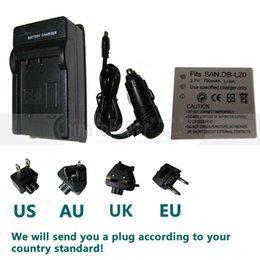 Batterie (1) + Chargeur pour Sanyo DB-L20, DB-l20au Et Xacti VPC-cg6, VPC-CG9, VPC-E1, VPC-E2, VPC-E6, VPC-E7, Caméscope numérique VPC-S7 à partir de sanyo caméscope numérique fournisseurs
