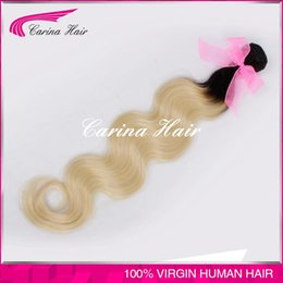 dark root colored ombre two tone body wave hair weaving weft extension 613 dark root ombre hair weave,1b 613 ombre