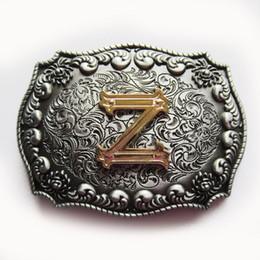 Belt Buckle Original Western Initial Letter Z Belt Buckle Boucle de ceinture Belt Buckle BUCKLE-LE010Z