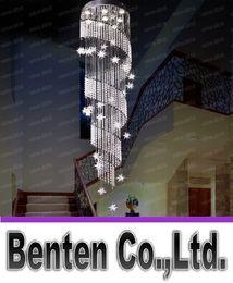 2017 pendeloques de cristal Grand luxe moderne Lustre K9 Crystal Ball Spiral Art Luminaire Décoration Luster Pendant Lamp Designer plafond lustres LLFA4950F abordable pendeloques de cristal