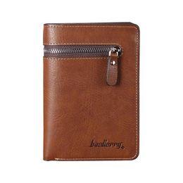 Baellerry Wallets 2016 Men's Wallets Coin Purse Male Clutch Zipper Pocket Business Leather Men Card Holder Wallet