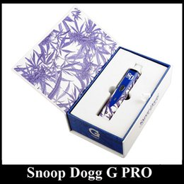 Wholesale Colorful Snoop Dogg G PRO Vaporizer blue and white protein dry herb vaporizer starter kit dhl ems freeshipping