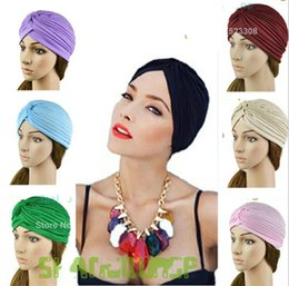 Wholesale Unisex India caps women Turban Hat Skullies Beanies girls knitted caps men Hearing protectors Hats Shower Cap Drop Shipping